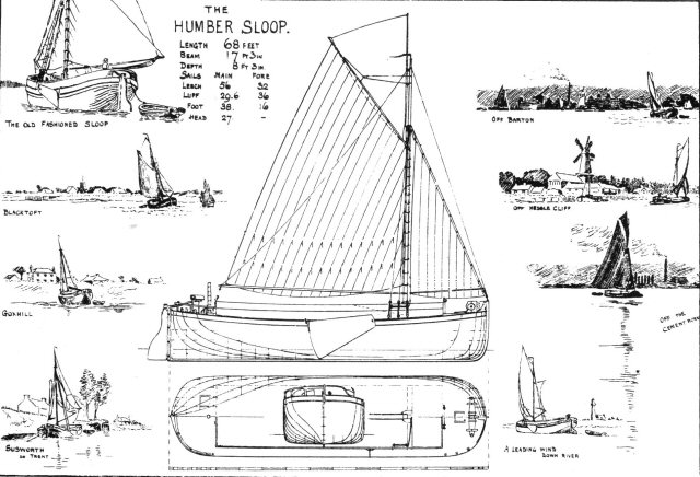 Plans of a Humber Sailing Barge Sloop